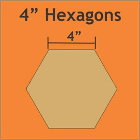 4 inch paper pieces hexagons pack of 16 templates With 4 inch hexagon template