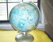 Vintage Rand McNally 80's World Globe, Vintage, Christmas Gifts, Home & Decor, Collecter, Antique, ACOFT, OFG team, WIB, Happy Listing Team