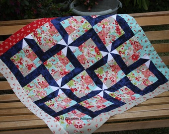 Small quilt top only, good for a receiving blanket, gorgeous colours but not overwhelming
