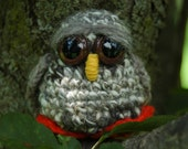 Quiet Tree Owl- OOAK, Ready to Ship, Local and Handspun Yarn