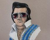 Original Acrylic Elvis Impersonator Painting
