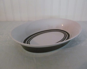 Mikasa Tempo Seventy Serving Bowl Radial Pattern Brown