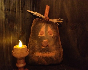 Primitive Jack-O-Lantern Large Bowl Filler / Tuck
