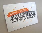 "Funny Halloween Card, Halloween Greeting Card - ""Jack O'Lantern"""