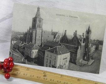 WWI 1918 Soldier Souvenir  - Dixmude, Belgium Cathedral  - Vintage Postcard