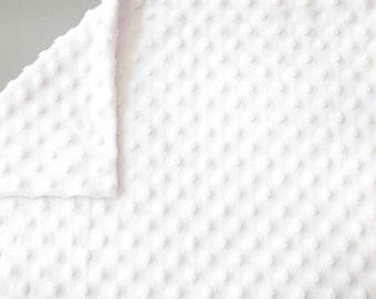 Minky Pillowcase - Standard size - Queen size - Snow White