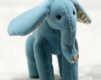 "OOAK Tabbyclouds Artist Elephant ""T'phon"" (Mohair Collector Bear)"