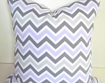 LILAC PILLOWS Lavender Decorative Throw Pillows Purple Chevron Pillow 16 18 20x20 Gray Throw Pillow Covers .All Sizes Purple Baby Nursery