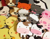 Farmer in the Dell Cupcake Toppers/Happy Birthday Toppers/Barn Animals/