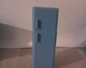 Dolls house miniature fridge freezer 1 12th scale in Blue or pink