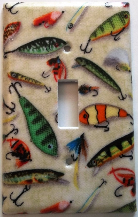 Items similar to fishing lure fish fly fishing light for Fishing lure decor