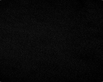 BLACK plush minky fabric - 1 yd cut