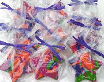 10 Rainbow Star Crayons