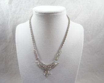 Vintage Signed Weiss Rhinestone Necklace - Classic Elegance - Bridal Prom Cotillion Quincincera