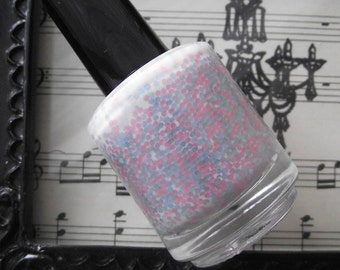 Hay Girl Nail Polish in Lullaby Baby Pink Baby Blue Matte White FULL SIZE BOTTLE