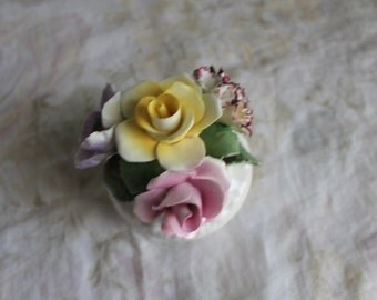 Vintage Radnor Floral Purple Flowers Pink Yellow Roses