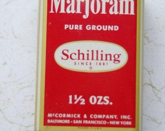Schilling Marjoram Tin