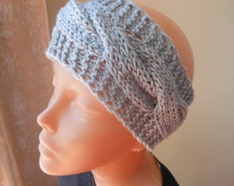 Knit Headband  Ear Warmer Head Warmer Grey