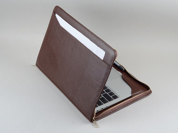 13 inch apple macbook air leather carrying business briefcase for Housse macbook air 11 pouces