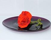 Felt decoration flowers bright red flower Gift for Mom Grandma friend big flower felt felted flower felted flower