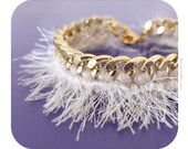RESERVED FOR DANA Ivory fringe bracelet, white bracelet, tribal bracelet