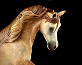 RESERVED FOR BECKY Two Unpainted Resin Arabians Horse Sculpture Gift for Horse Lover