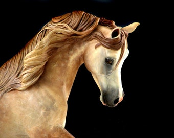 RESERVED FOR SYLVIA Two Unpainted Resin Arabians Horse Sculpture Gift for Horse Lover