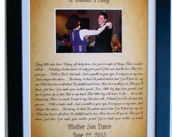 Personalized Gift For Son From Mother To Groom From Mom, Mother Son Gift Poem Dance Song Quote On Wedding Day Custom Photo Mat Art