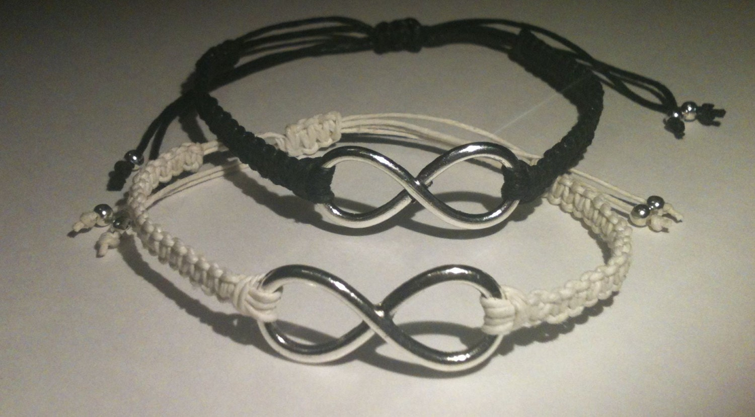 larger infinity couples matching bracelets by