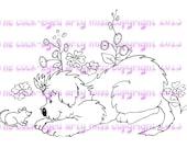 Digital stamp/image instant download... Curious Creatures...
