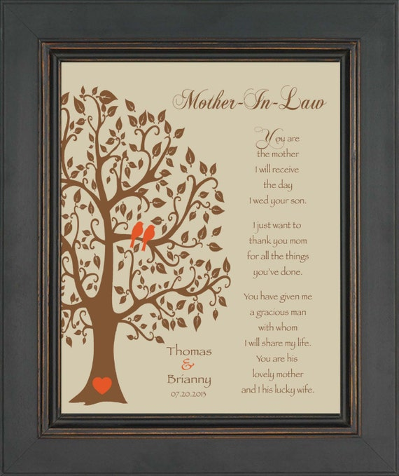 Wedding Day Gift For Bride From Mother In Law : Wedding Gift for Mother In-Law - Future Mom In-Law Gift - Thank You ...