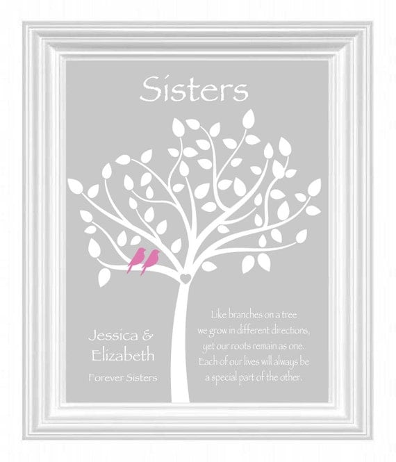 Sister Wedding Gifts: Items Similar To Sister Gift
