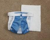 Cloth Diaper for Cats- True Blue