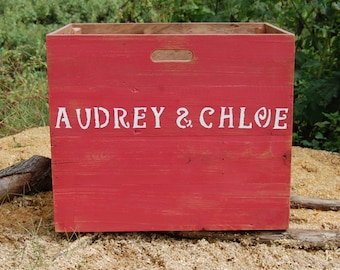 Personalized Crate/ Wooden Crate/ Toy Storage/ Girls Room Decor