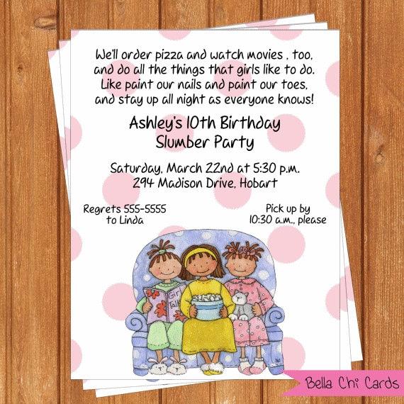 Pajama Party Invitation Free Printable nowworkinfo – Free Pajama Party Invitations