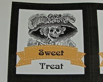 Skull Sticker Seals 2 Sheet of 6 3x3 Inch Stickers -