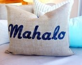 "Mahalo Pillow Cover 12"" x 24"""
