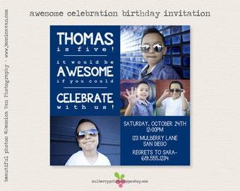 Awesome Celebration- Birthday Invitation