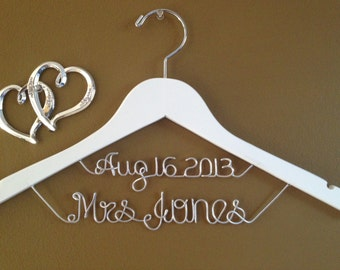 Brides Hanger, Personalized Bridal Hanger with Date,Custom Bridal Hanger,Bride Hanger,Name Hanger, Wedding Hanger, Personalized Bridal Gift