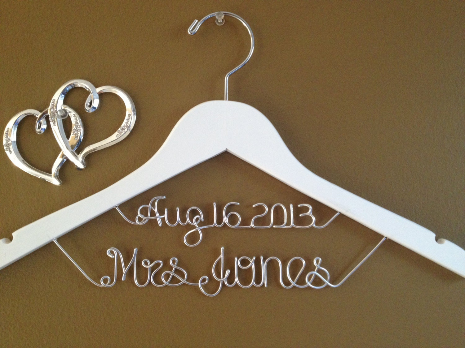 Brides Hanger Personalized Bridal Hanger With Datecustom