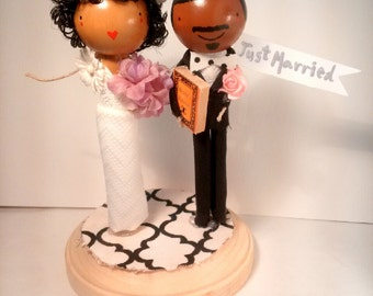 African American Cake Topper
