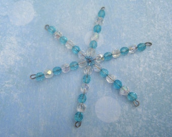 Crystal Snowflake Ornament Etsy