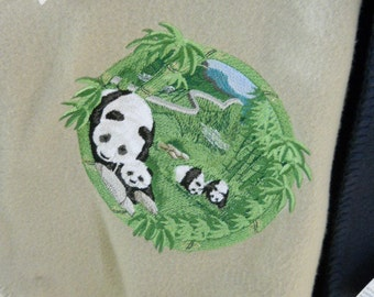 Panda Fleece Throw