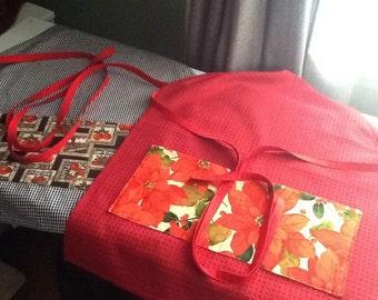 Tea Towel Holiday Aprons - adjustable straps