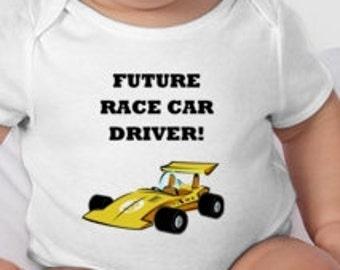 Future Race Car Driver Baby bodysuit tee