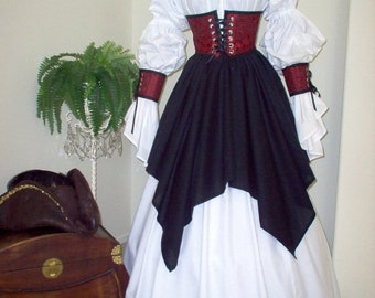Pirate Cincher Costume. Plus Sizes And Other Fabrics Available.