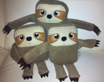 Super cute Sloth plush toy - ready to ship.