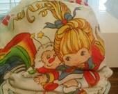 Custom Rainbow Brite fitted cloth diaper