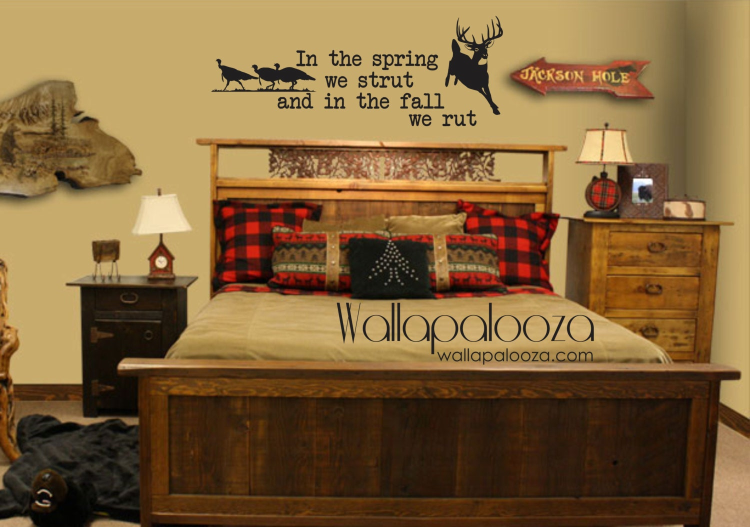 Deer And Turkey Wall Decal Nursery Wall Decal Hunting Wall
