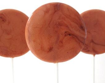 Salted Caramel Tiramisu Gourmet Lollipops - Pick Your Size - Party Favors - Wedding Favors - Lollipop Favors - Luxe Lollies